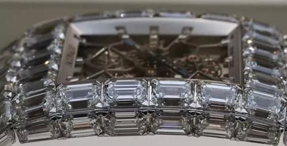 The shiny diamonds engraved on the whole watch make it the most expensive timepiece in the world.