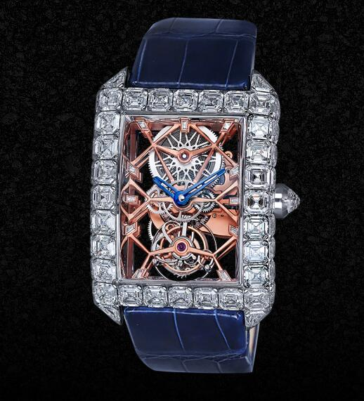 The Jacob & Co. Millionnaire could be regarded as a masterwork with its high level of craftsmanship of watchmaking.