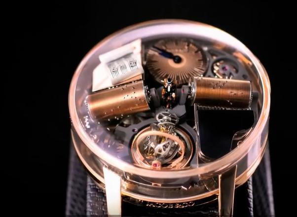 The watch has blended the mechanical music box inside of the model, and it looks high end and noble from the appearance