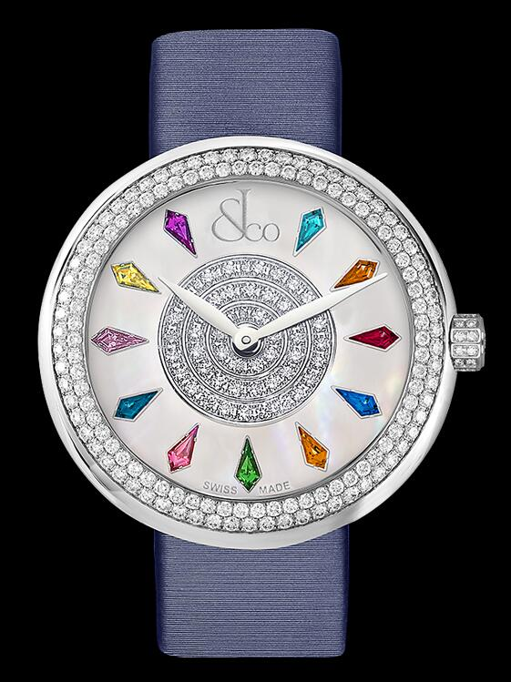 Swiss duplication watches are decorated with diamonds.
