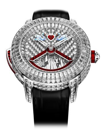 Swiss duplication watches online are covered with diamonds.