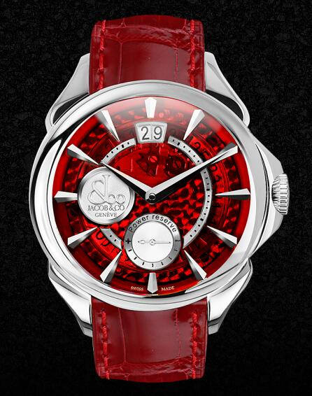 Swiss-made reproduction watches forever are impressive with red color.