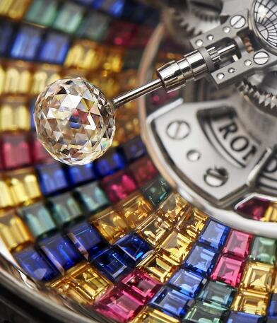 The diamonds make the timepiece more precious.