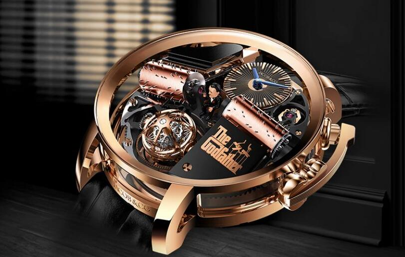 Luxury replica watches are composed of rose gold material.