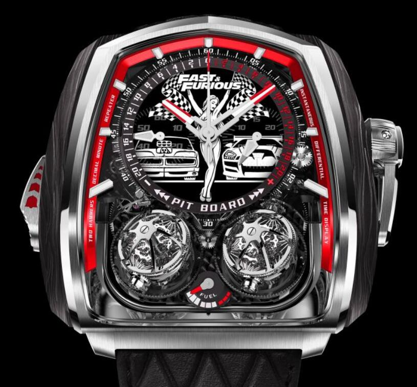 Swiss replication watches are matched with titanium buckle for the straps.